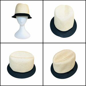 J Crew 2 tone packable Straw Hat